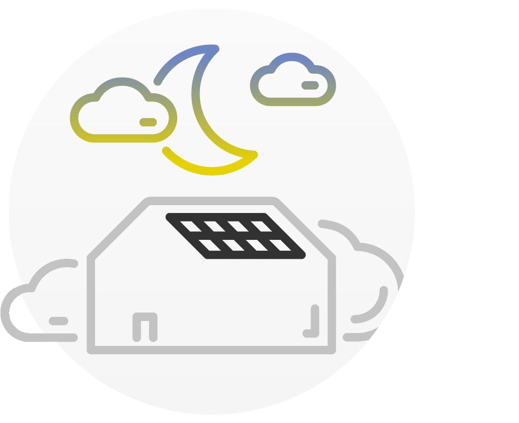 Usar energía solar gratuita también cuando la planta fotovoltaica no produce ninguna